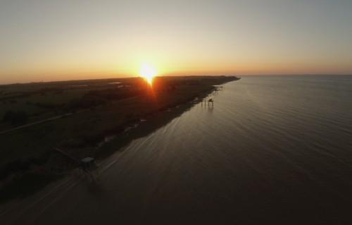 coucher de soleil sur l'estuaire